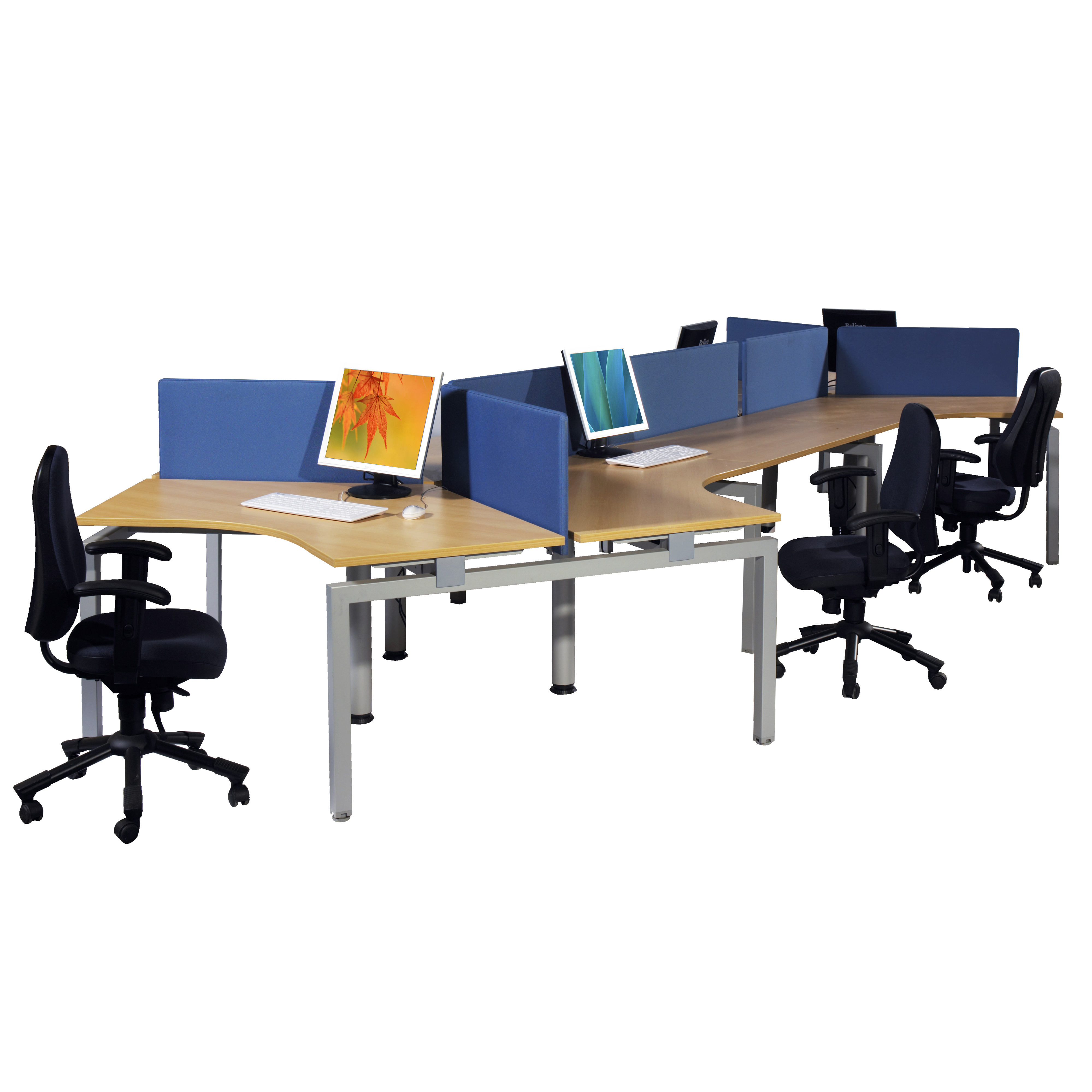 Bench Profile   Large Open Plan Office With Desk Height Screens And Swivel  Chairs.